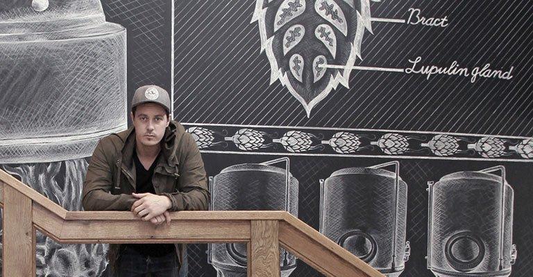 Sierra nevada brewery chalk art craft brew creative for Creative design interior of nevada