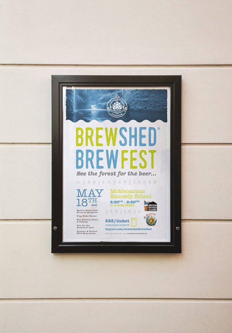 Brewshed Brewfest Framed Poster