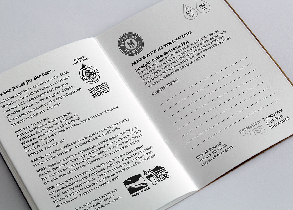 Brewshed Brewfest Tasting Passport Book